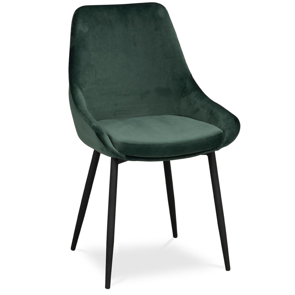 Ebbot stol sammet grön