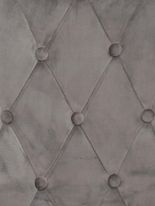 Ontario stol grå sammet detalj