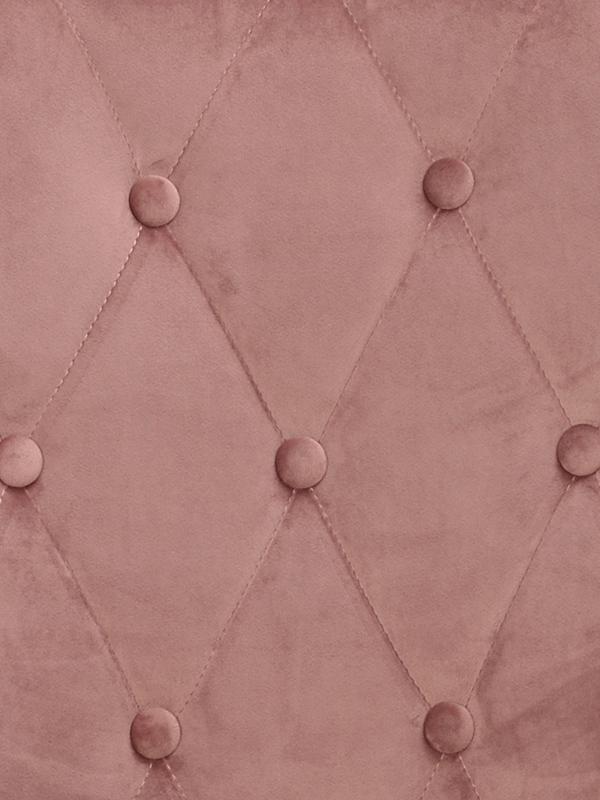 Ontario stol rosa sammet detalj