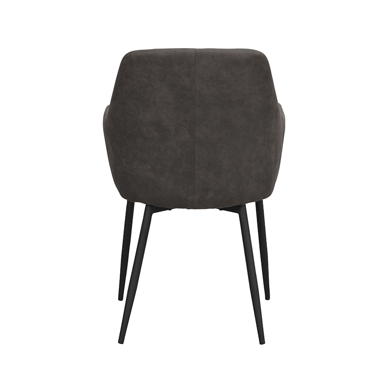 Ramsey stol mörkgrå sammet svarta ben bak