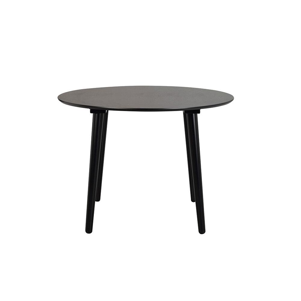 Lotta matbord Ø106 svart askfaner