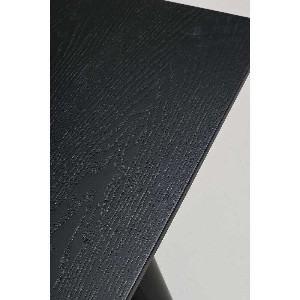 Lotta matbord 140x90 svart askfanér