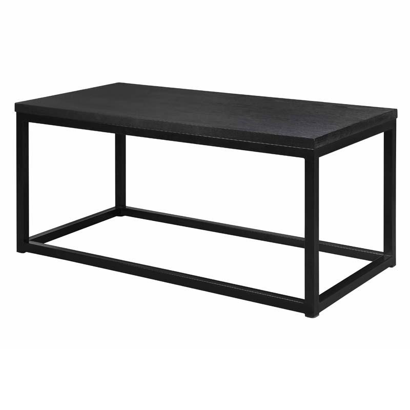 Acero soffbord 94x47 svartbrunlackad askfaner/svart metall vinkel