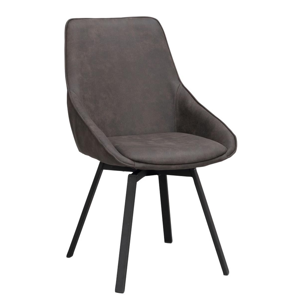 Alison-stol-morkgra-microfiber-svart