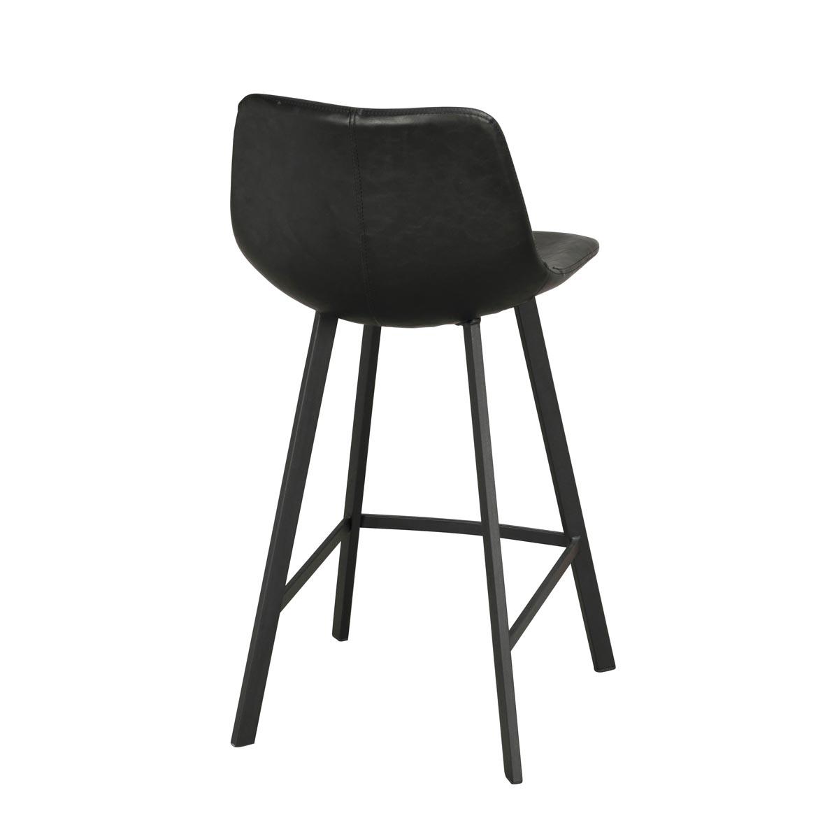 Alpha barstol svart svart rygg