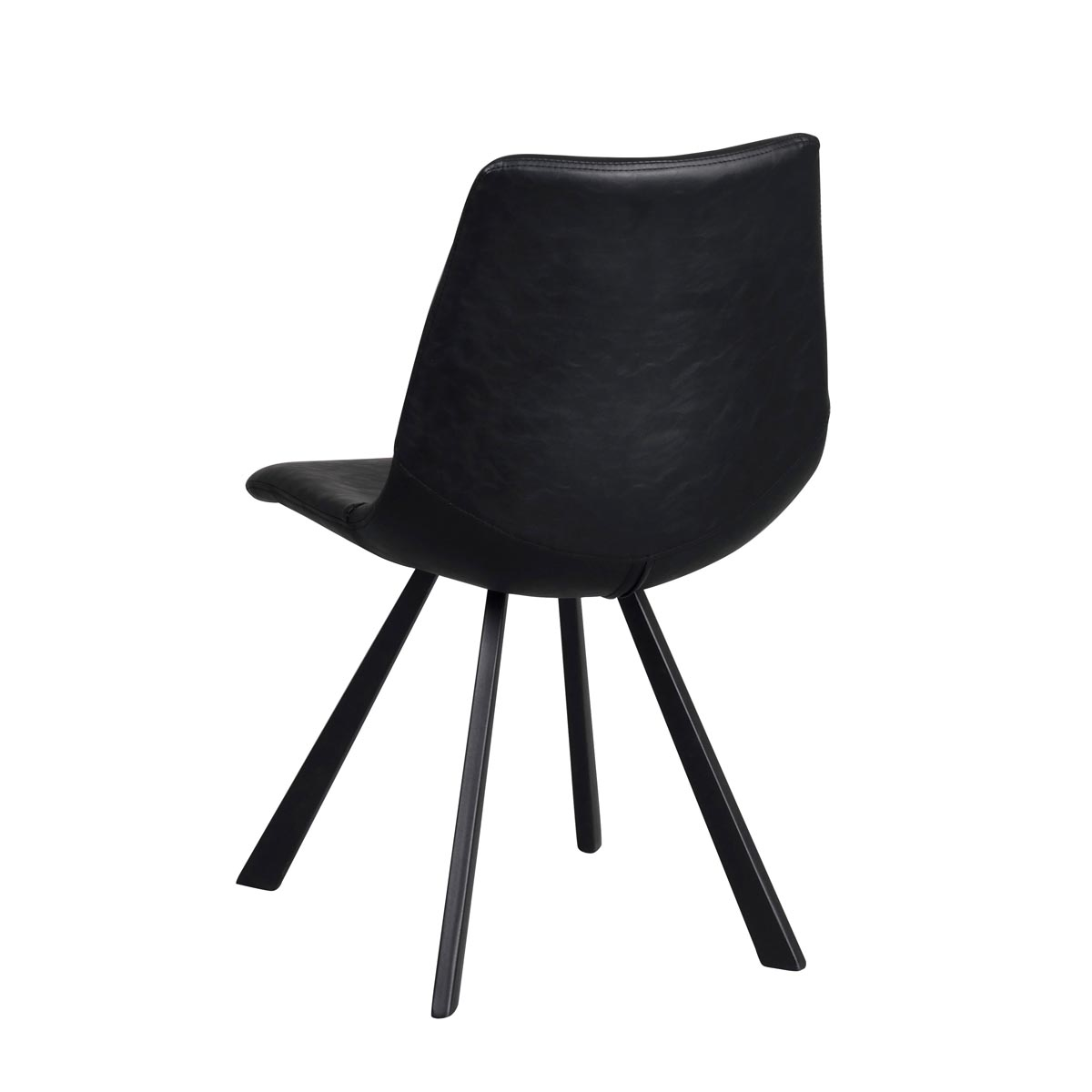 Alpha stol svart konstläder rygg
