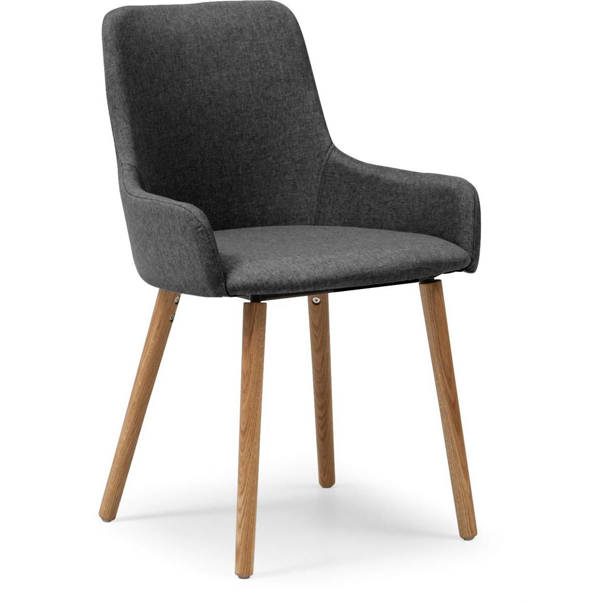 Bella grå stol tyg