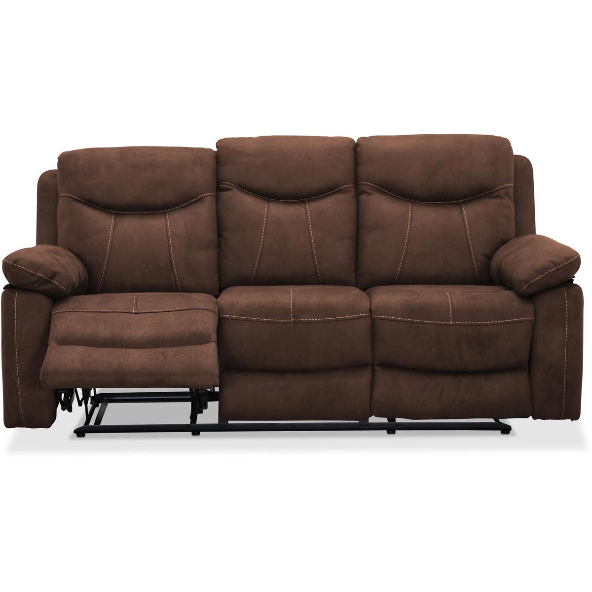 Boston 3-sits recliner brun fotstöd