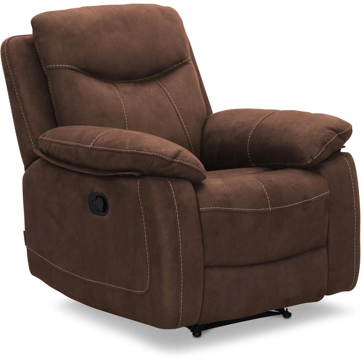 Boston fåtölj recliner brun micro vinkel