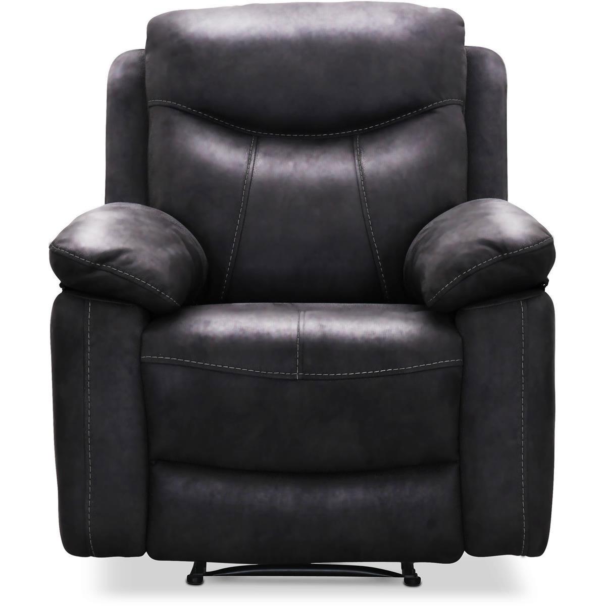Boston fåtölj recliner läder svart