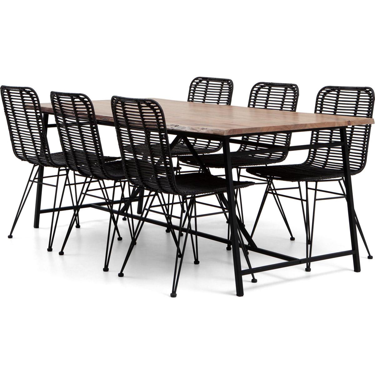 Conrad bord 200 stol rotting svart