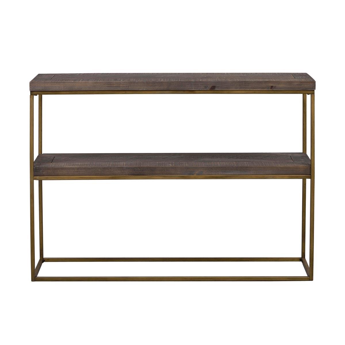 Dalton avlastningsbord brun vintage guld