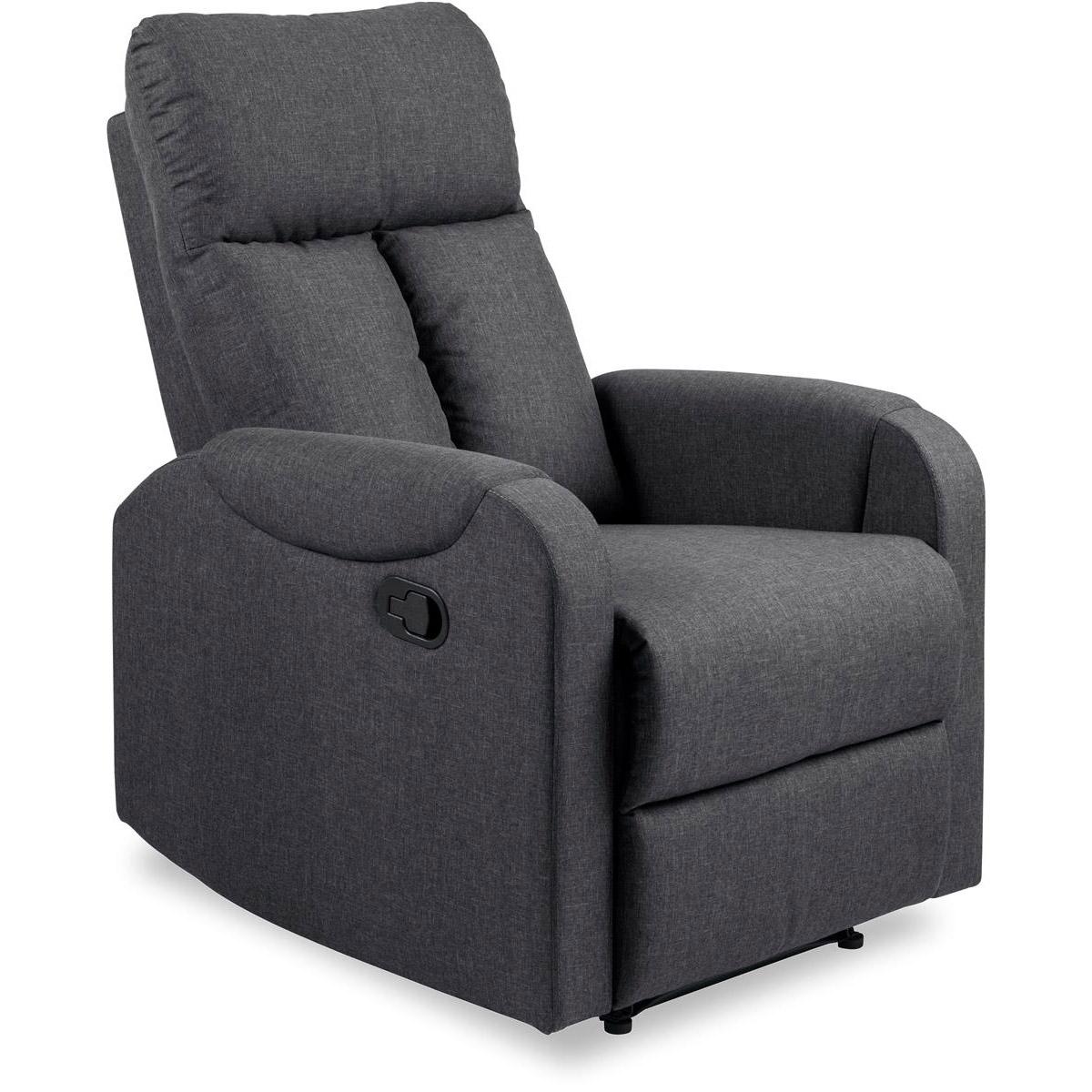 Dublin fåtölj recliner tyg grå