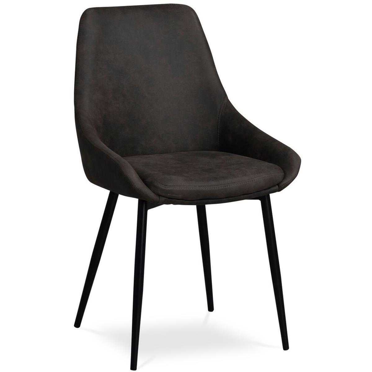 Ebbot stol sammet mörkgrå