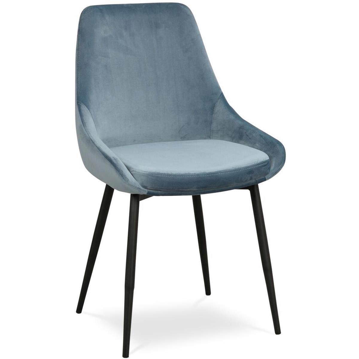 Ebbot stol sammet blå