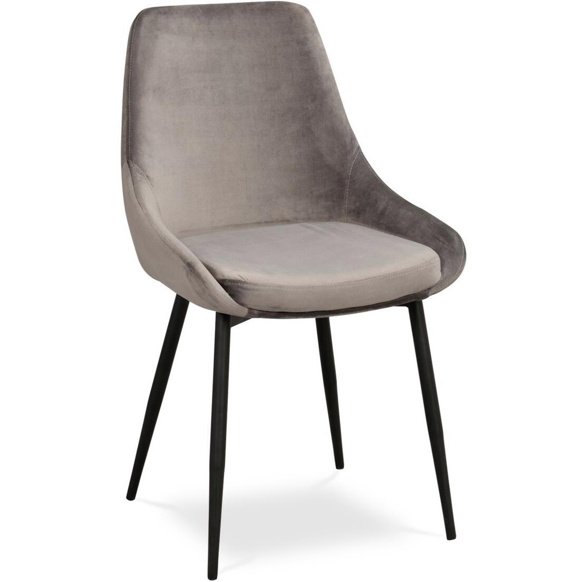 Ebbot stol sammet grå