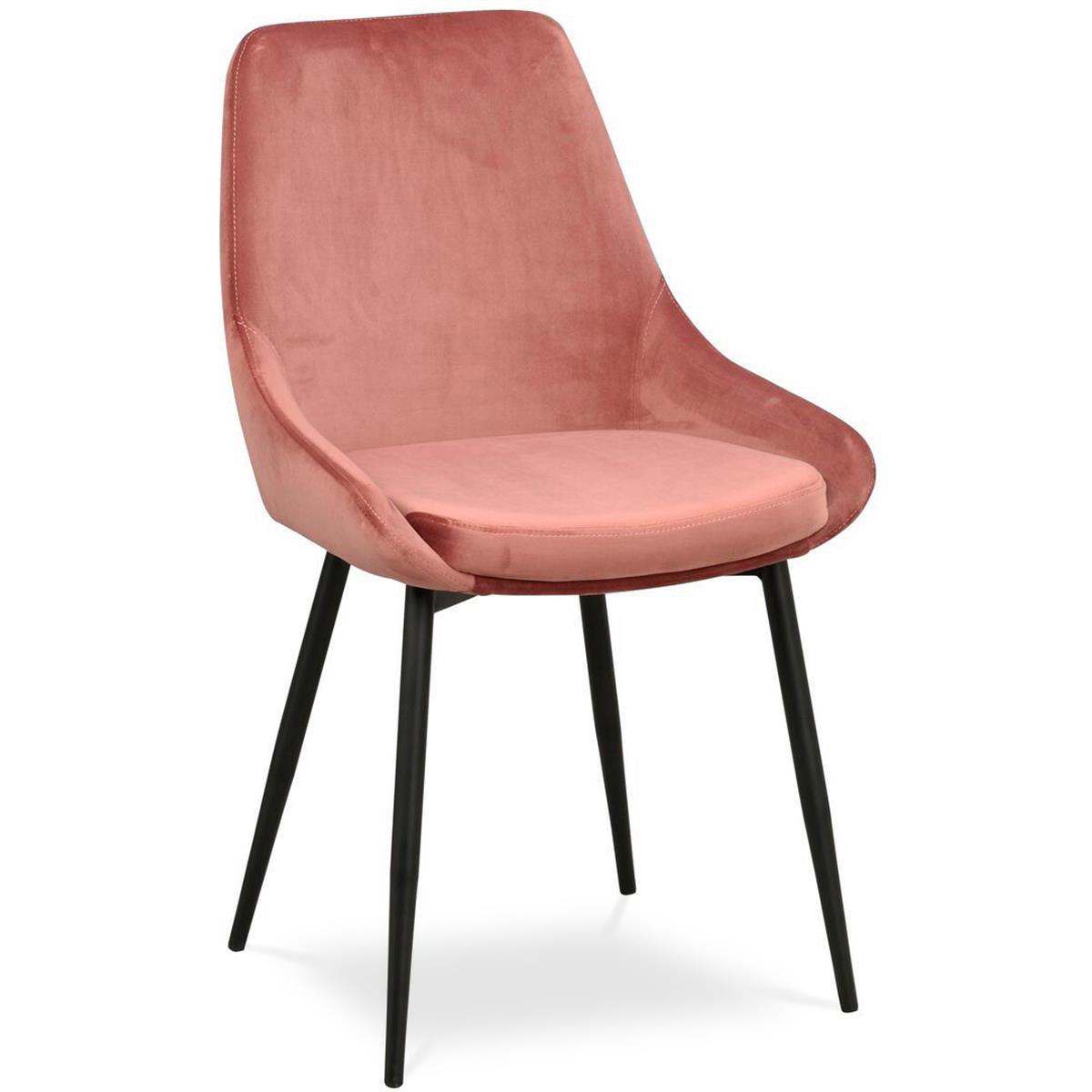 Ebbot stol sammet rosa