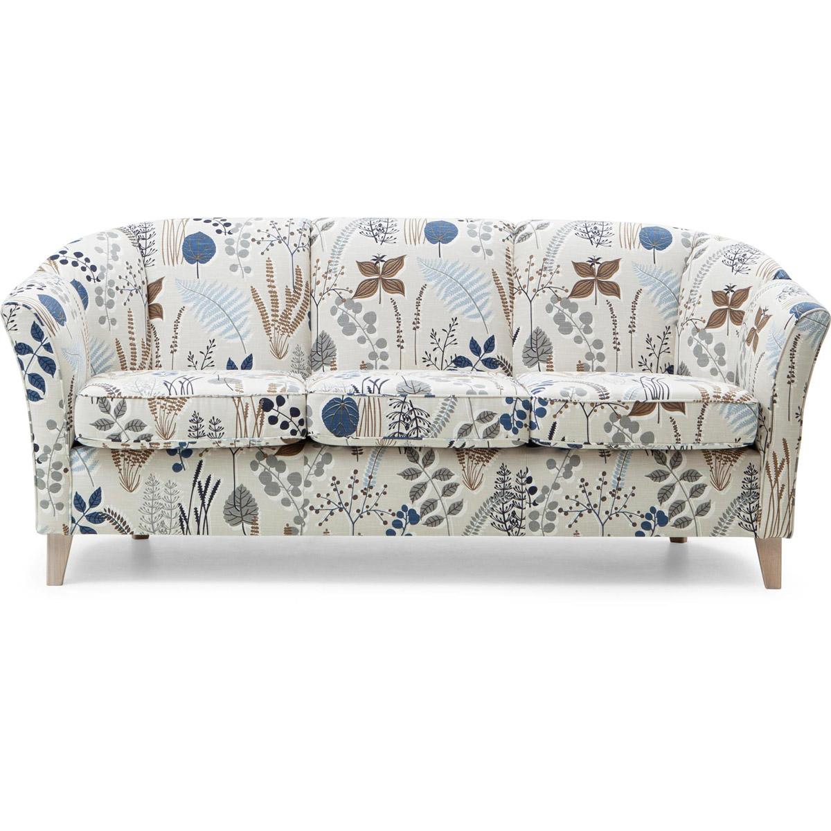 Ekerö soffa 3-sits botanik blue