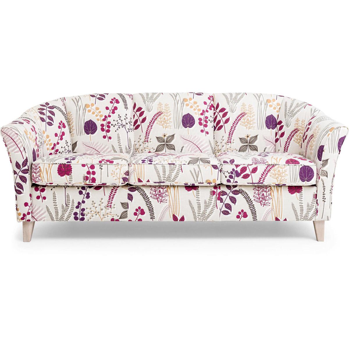 Ekerö soffa 3-sits botanik red