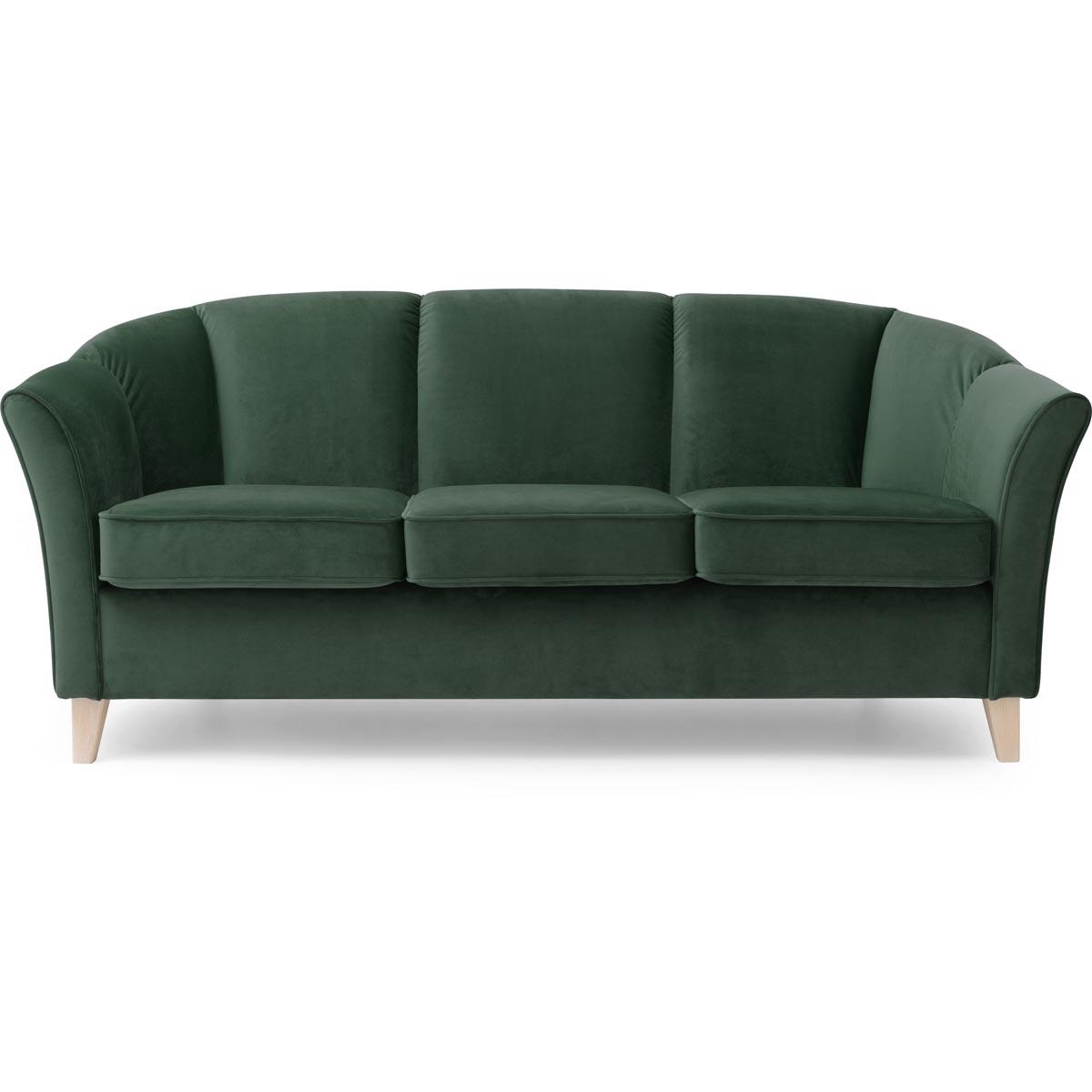 Ekerö soffa 3-sits tyg Monolith 37 grön