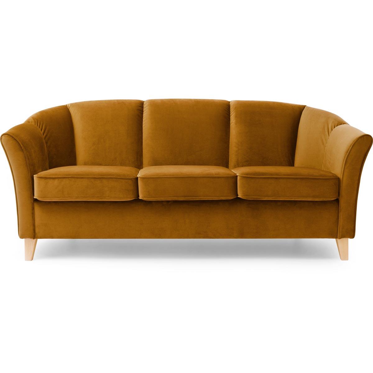 Ekerö soffa 3-sits tyg Monolith 48 guld
