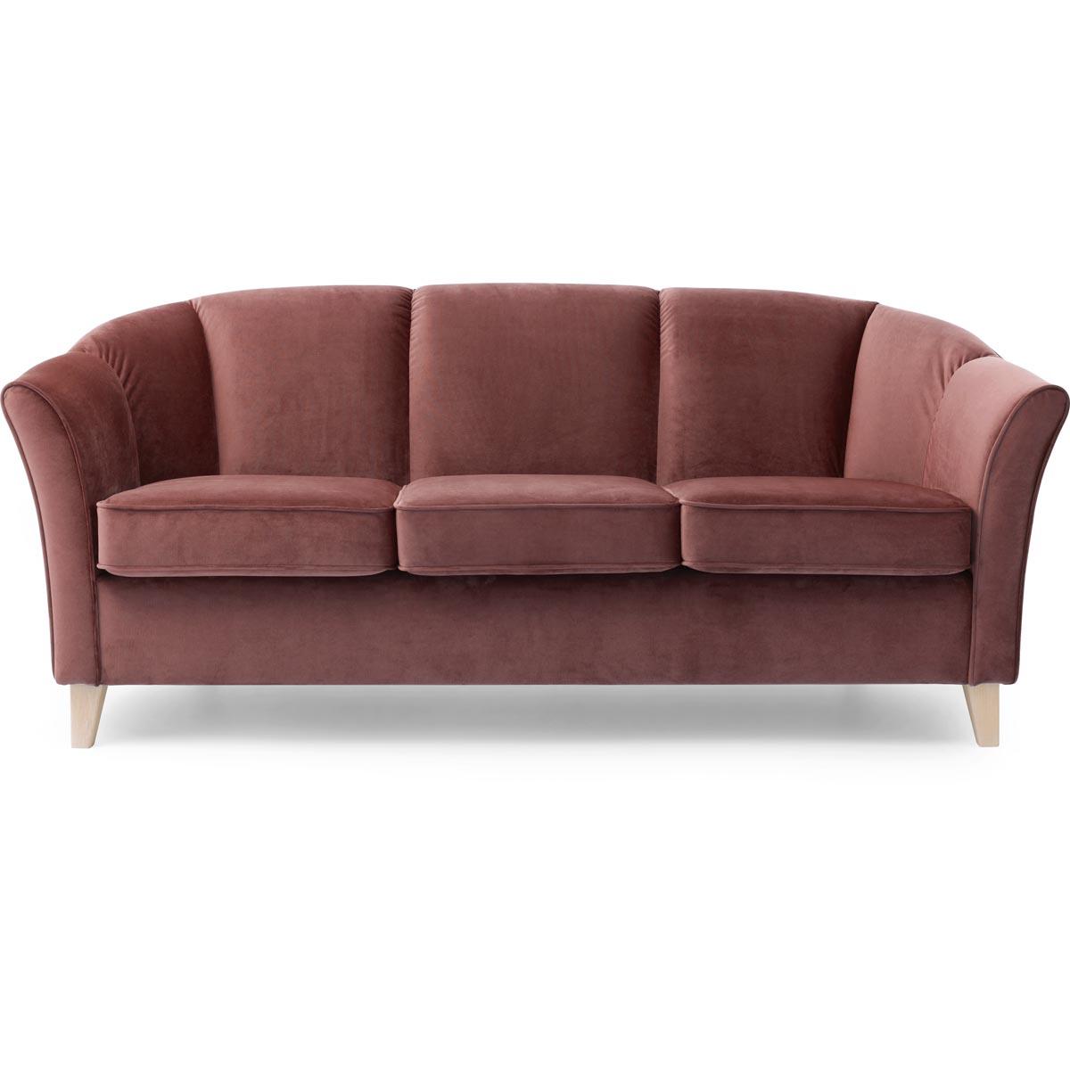 Ekerö soffa 3-sits tyg Monolith 63 dusty rose
