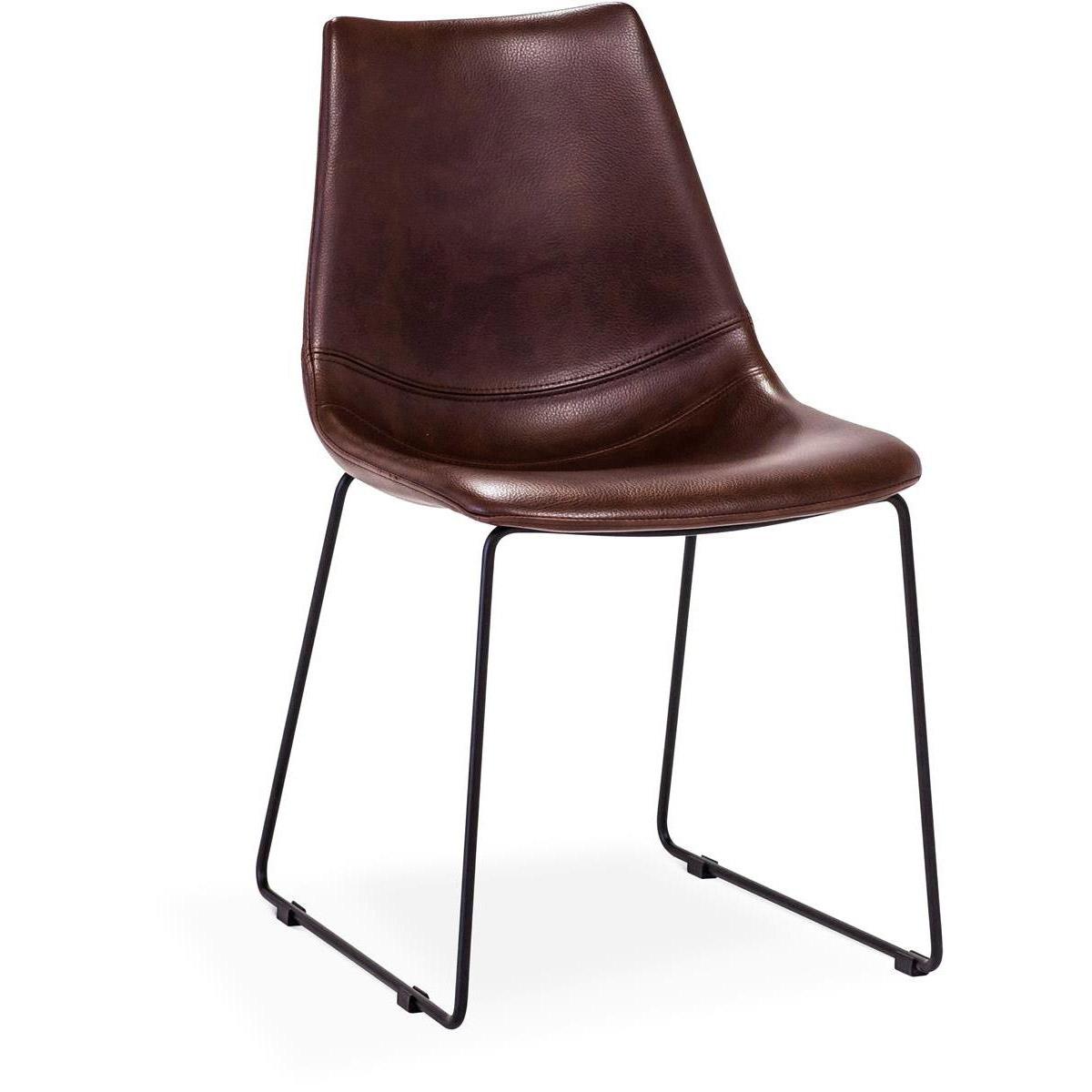 Eksta-stol-brun-svarta-ben-mobelmastarna