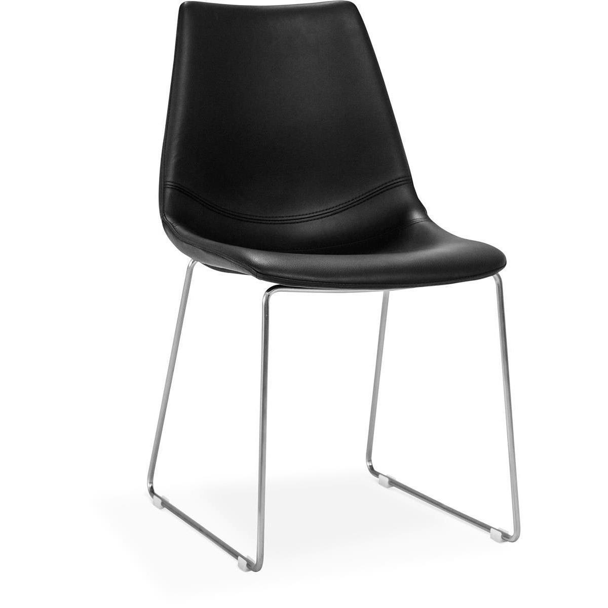 Eksta-stol-svart-kromade-ben-möbelmästarna
