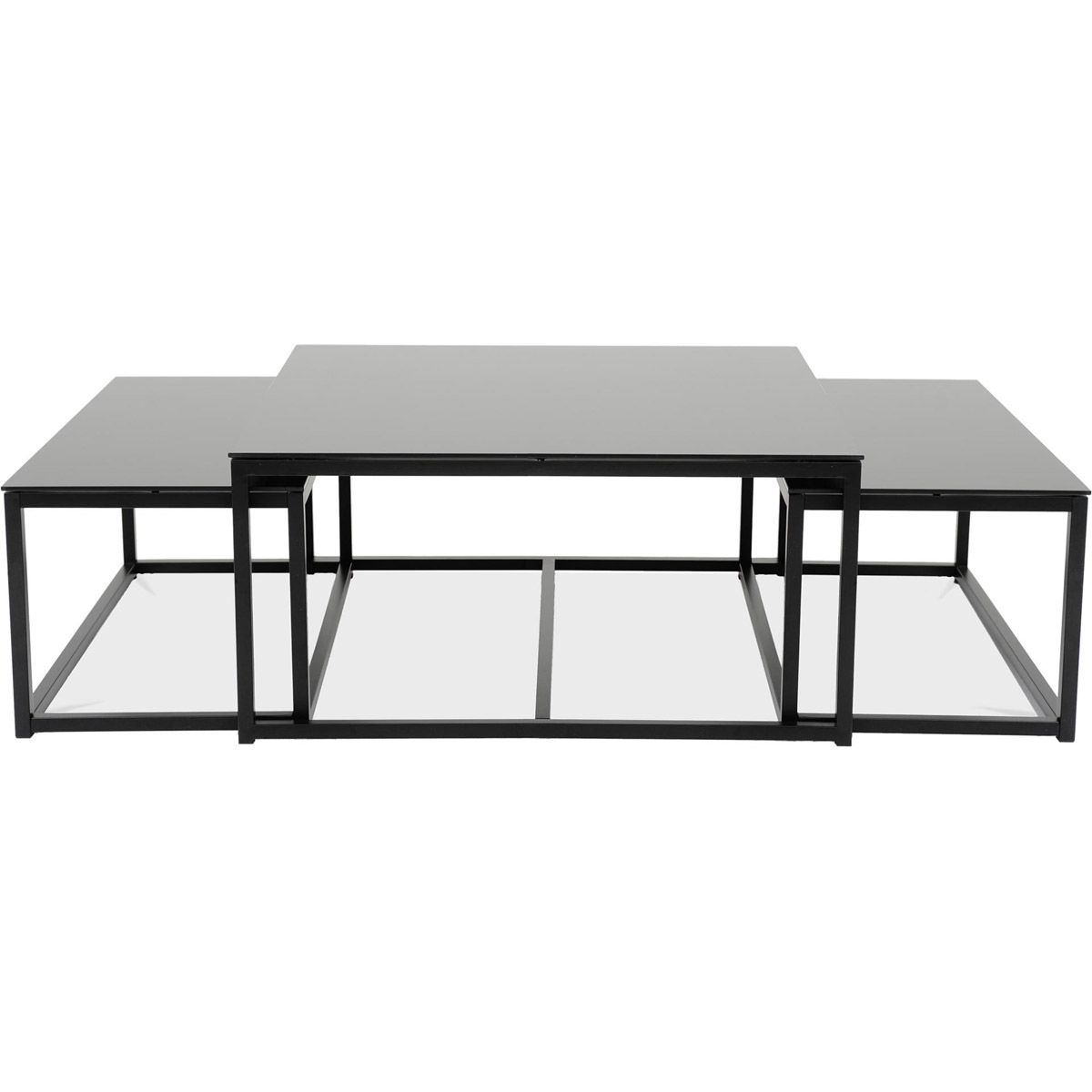 Elton-soffbord-färgat-glas-set