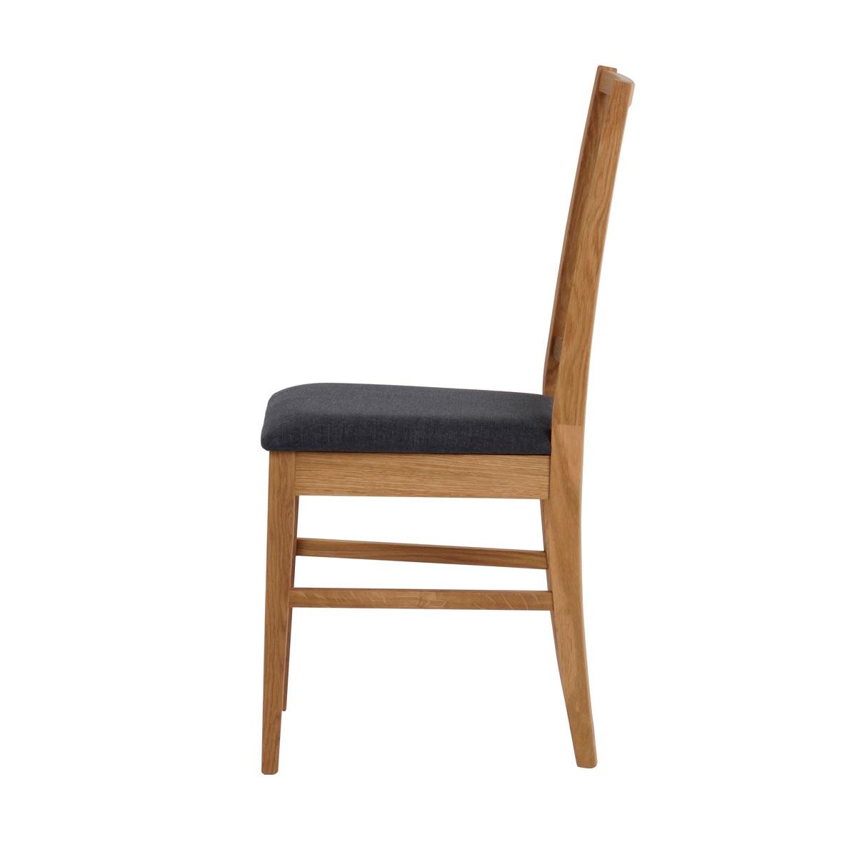 Vasa stol ek grå tygsits sida