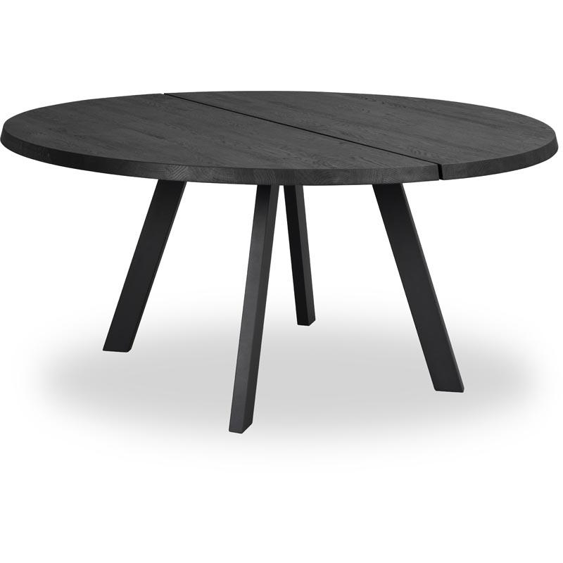 Fred matbord runt 160 svart ek svart 1