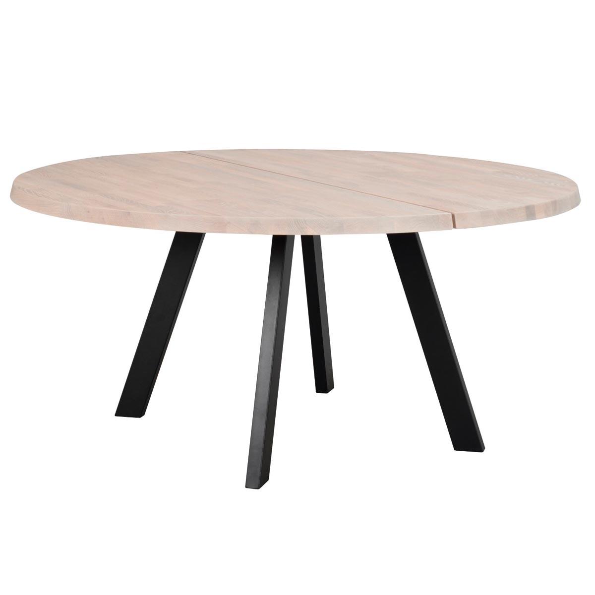 Fred-matbord-runt-160-vitpigm-ek-svart