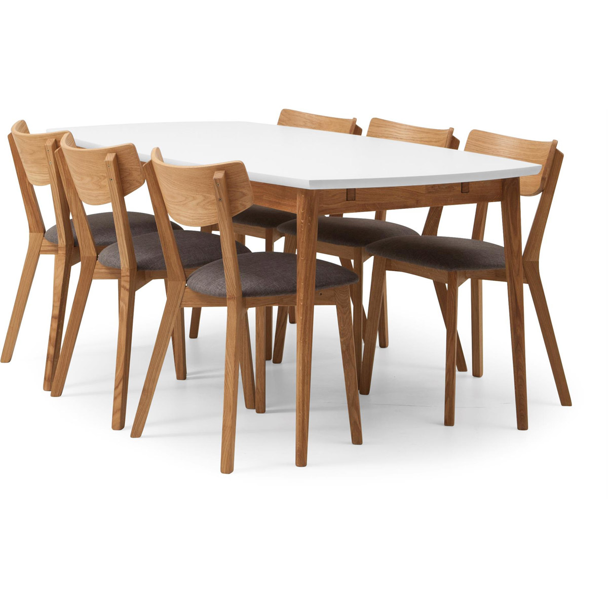Furillen matbord 180 med 6 stolar vinkel