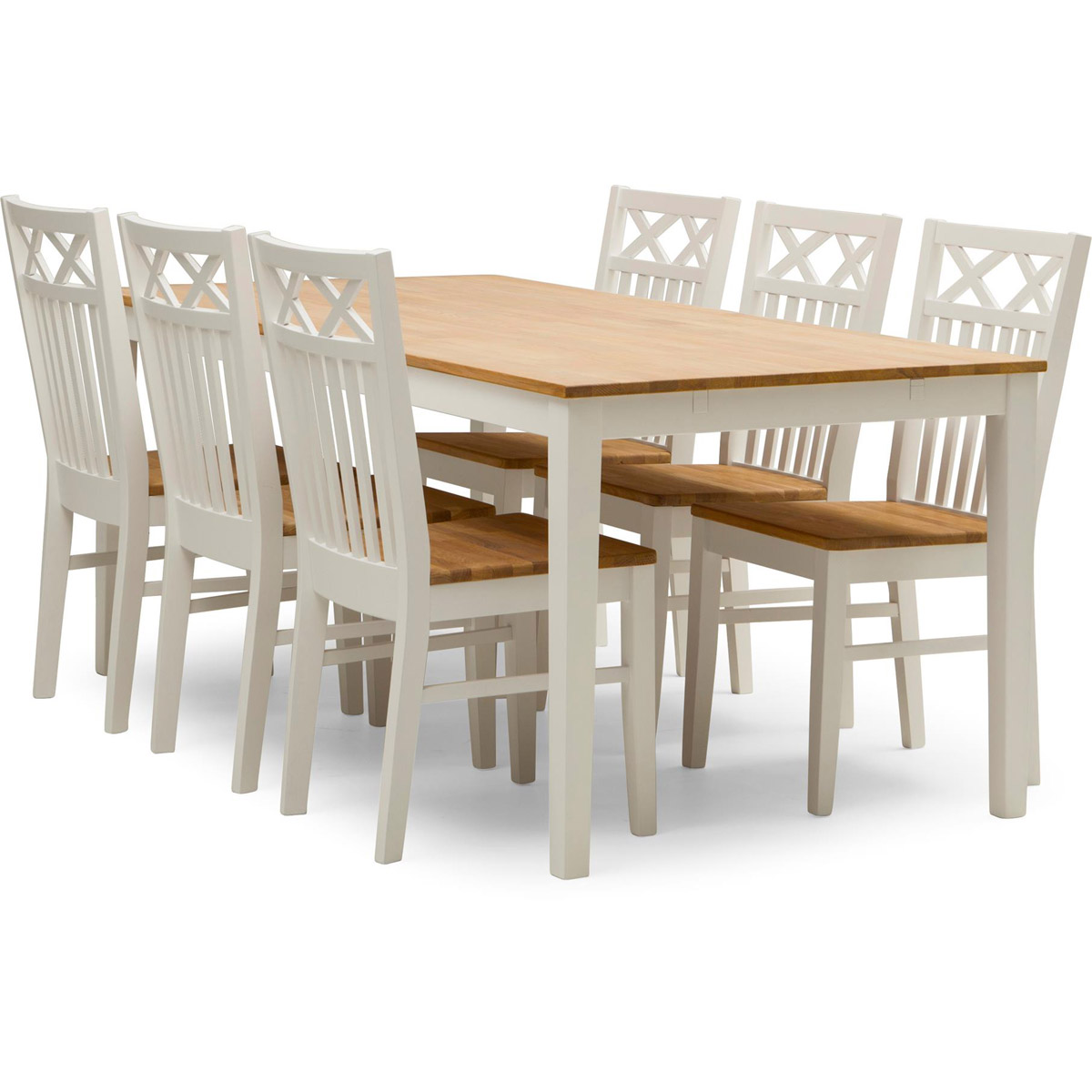 Bord Hedda 180 med 6 stolar Saltvik i ek