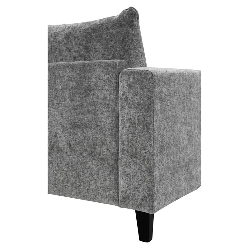 Hudson soffa tyg Alis grå armstöd baksida