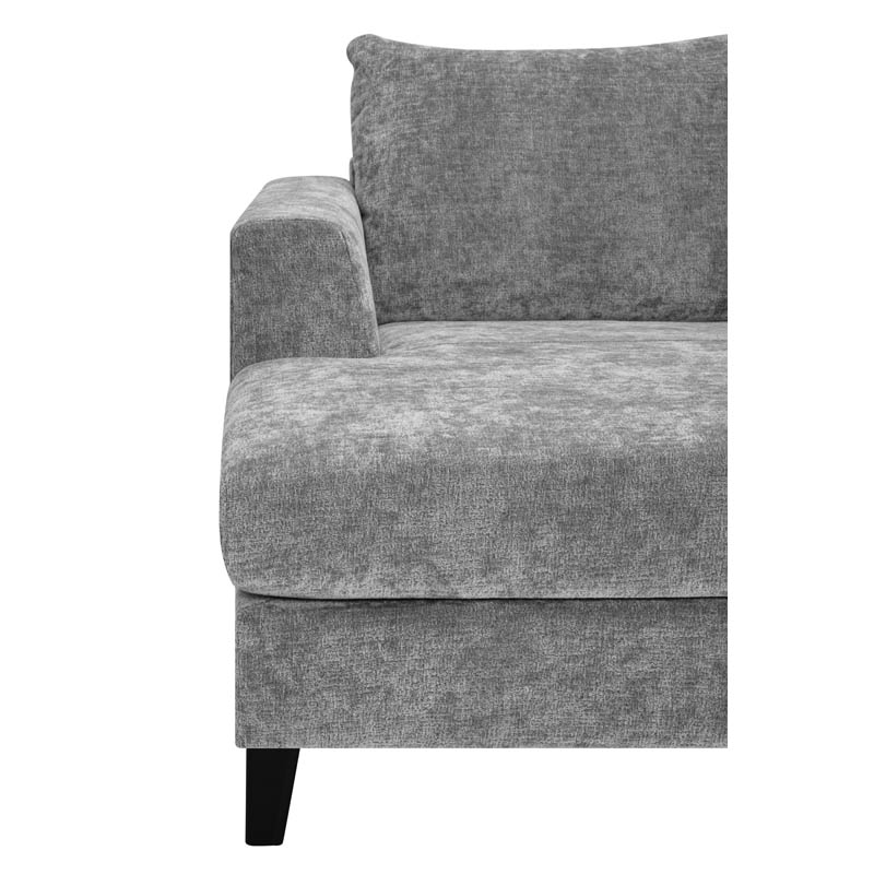 Hudson soffa tyg Alis grå armstöd