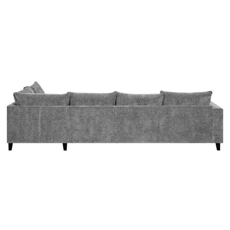 Hudson soffa tyg Alis grå baksida