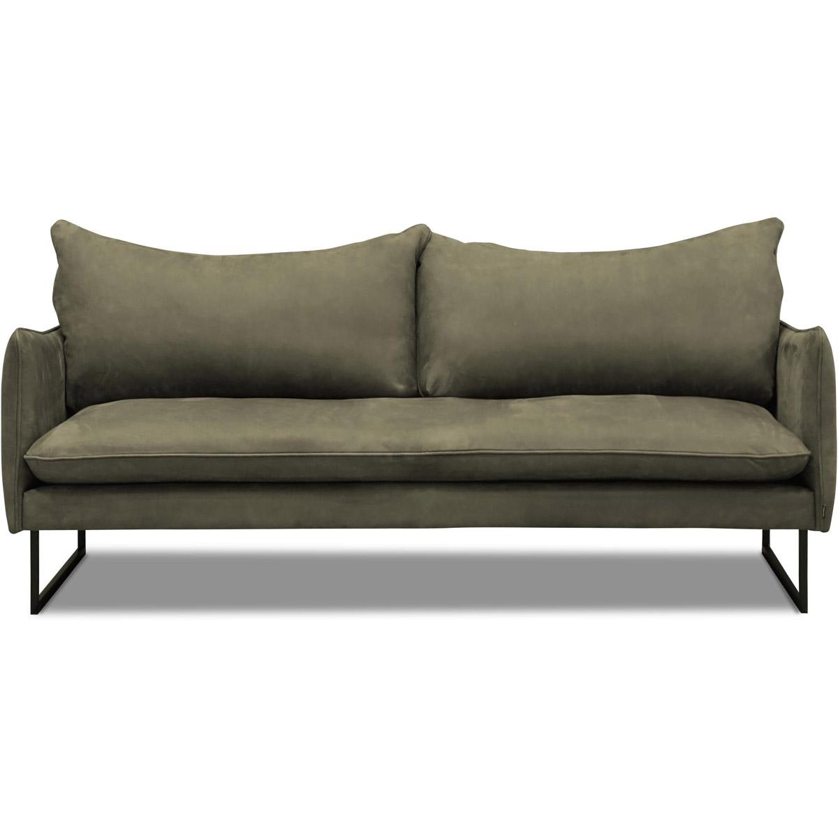 James-soffa-2,5-sits-grön-läder