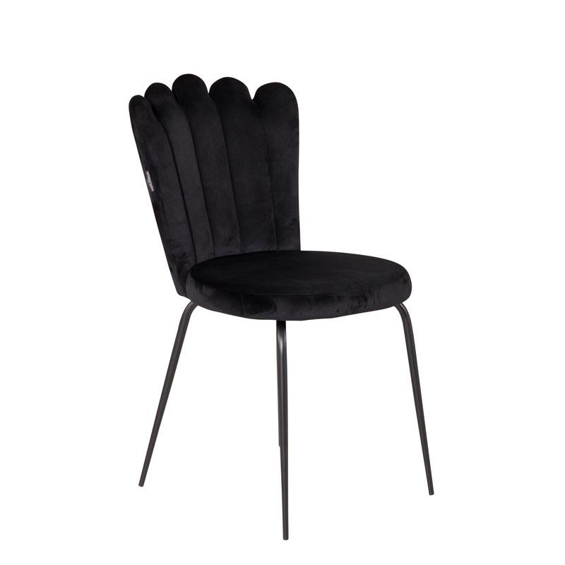Limhamn-light-stol-svart-sammet