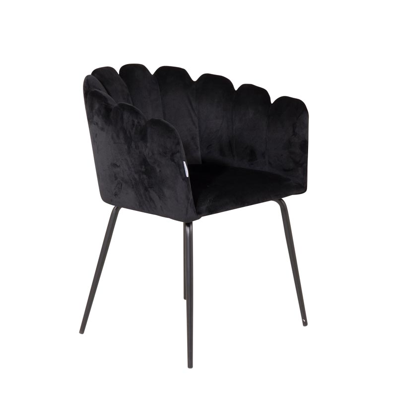 Limhamn-stol-svart-sammet