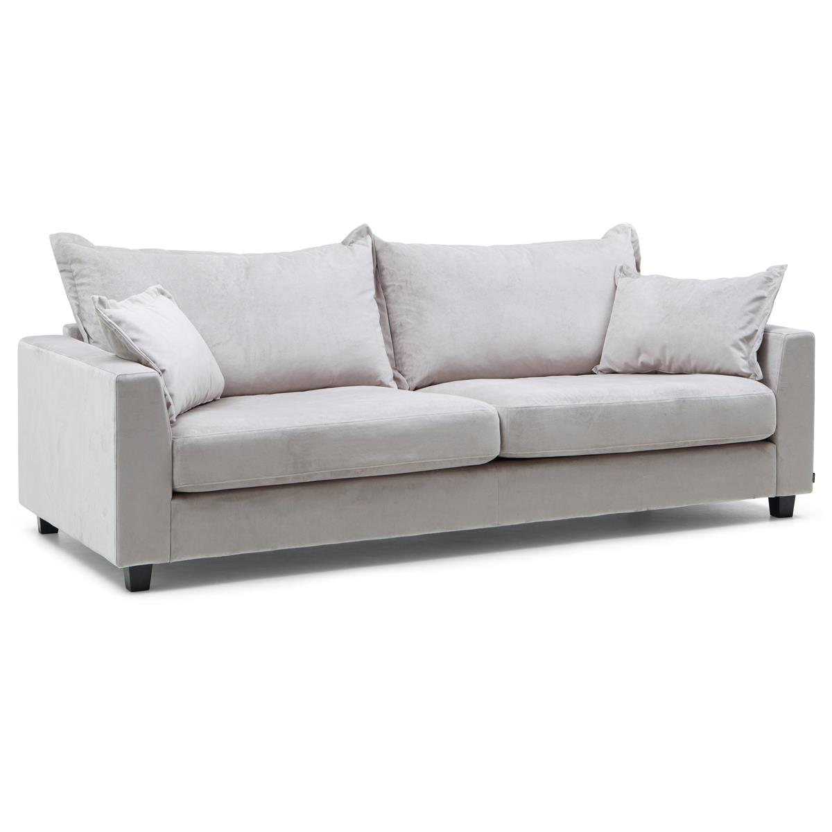 Louise soffa 3-sits meda silver vinkel