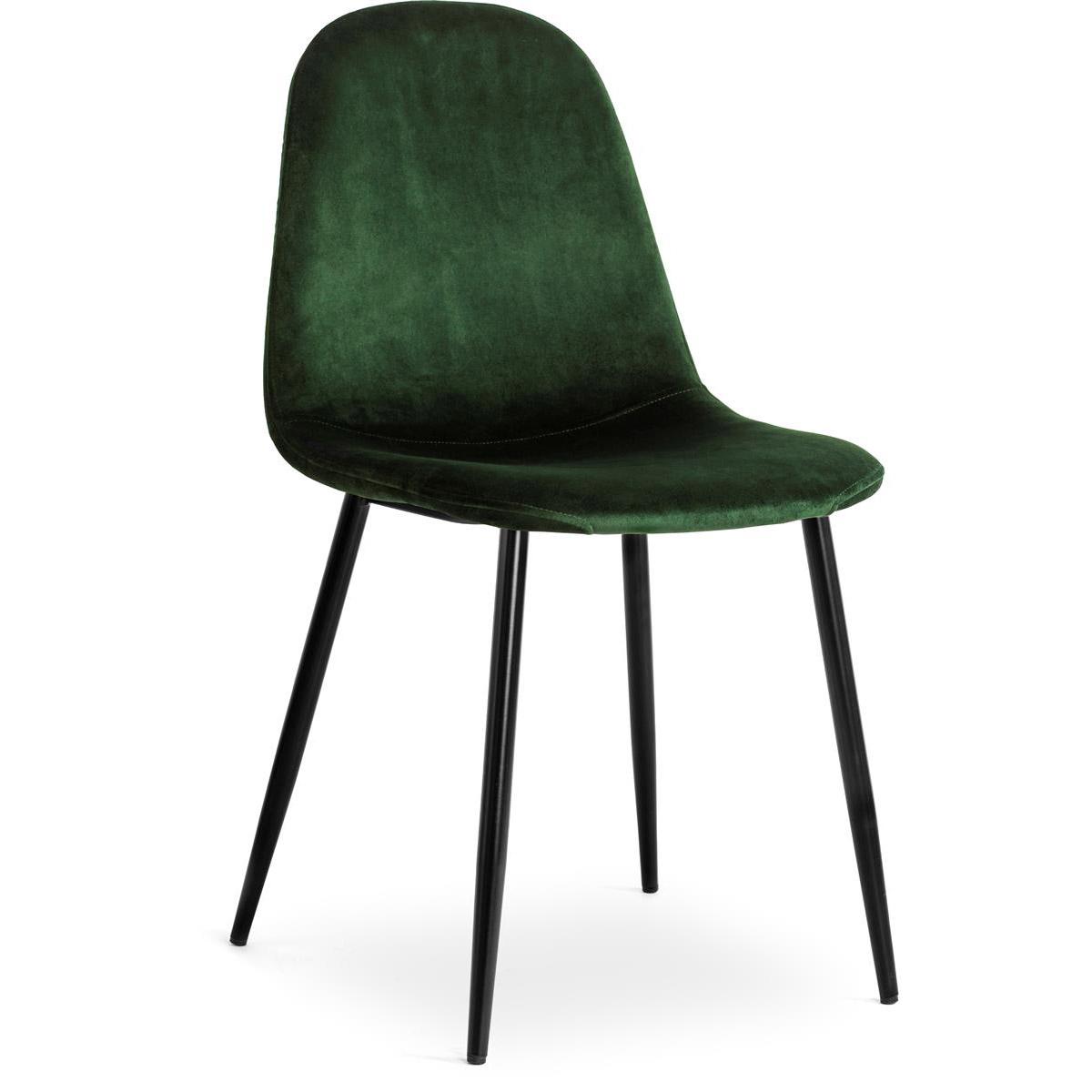 Meghan stol sammet grön