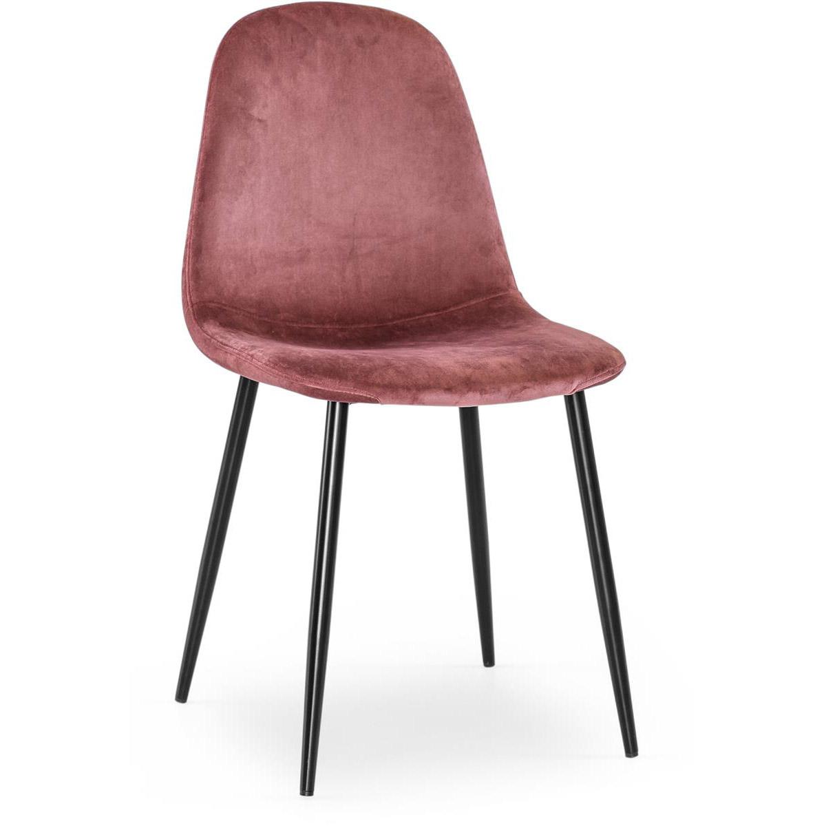 Meghan stol sammet rosa