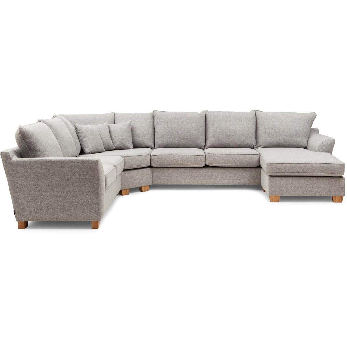 Mello hörnsoffa med divan ljusgrå