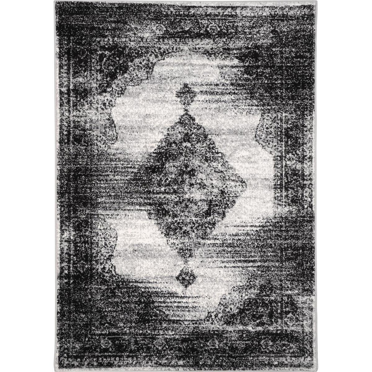Palma matta mönstrad grå svart 160x230 200x290 133x190