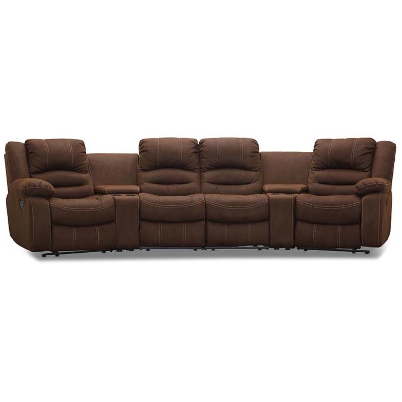 Paus-svangd-4-sitssoffa-brun-micro-recliner-mugghallare