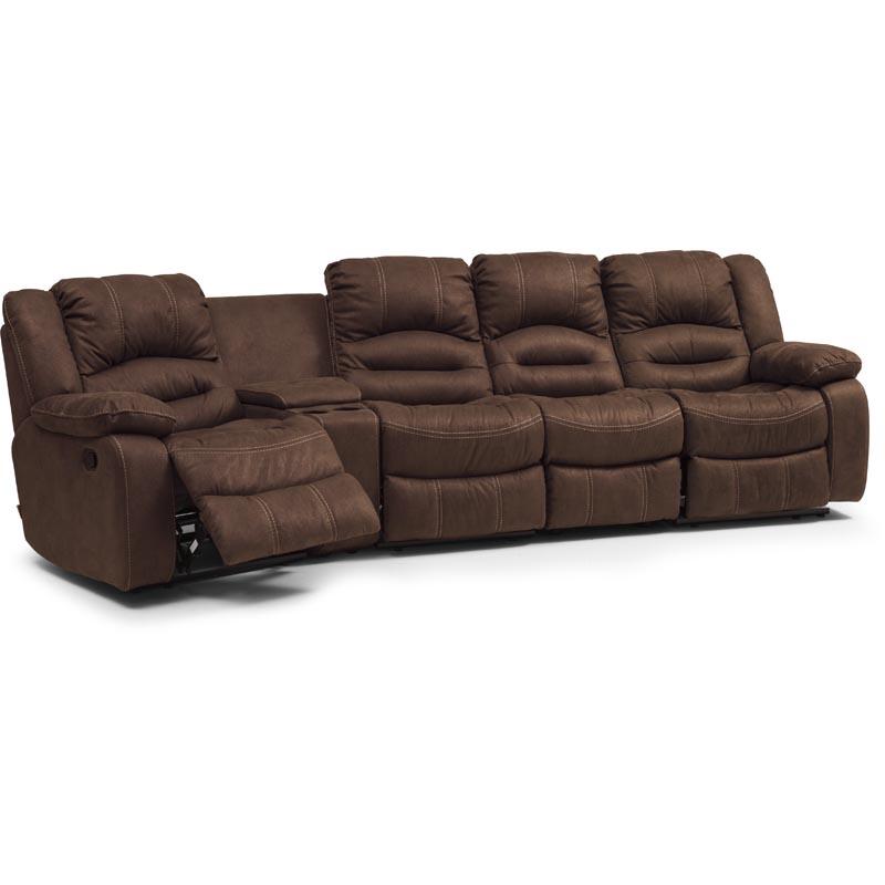 Paus-1C111-svangd-4-sitssoffa-brun-micro-recliner-mugghallare-fotstod-2-vinkel