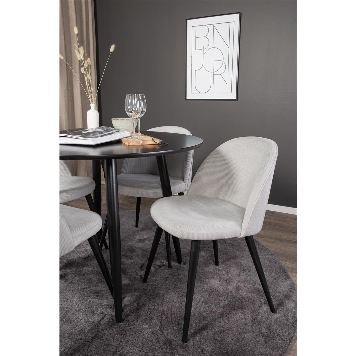 Matgrupp Plaza bord runt med 4 stolar velvet miljo detalj-stol-MM