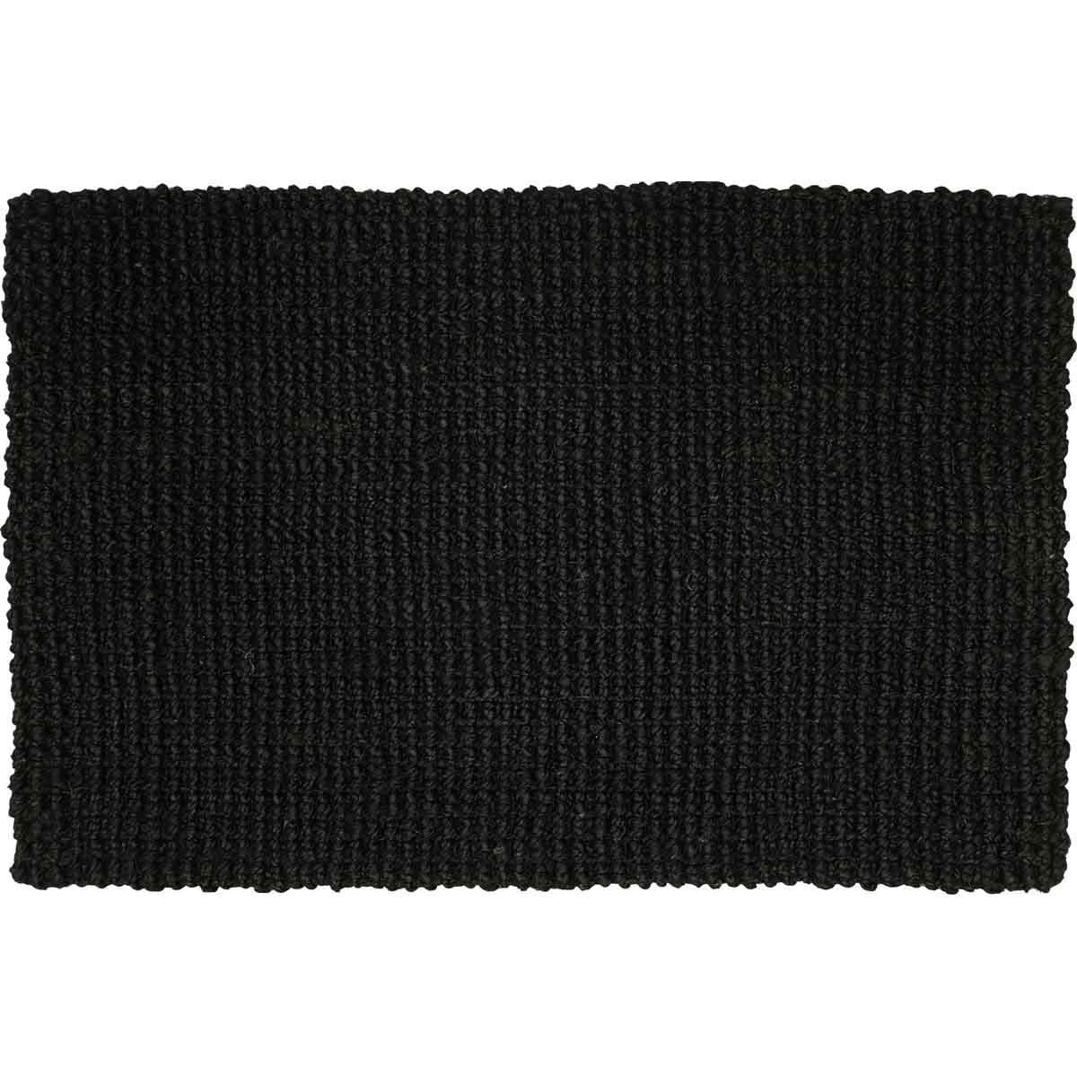 Skåne dörrmatta jute svart 50x80