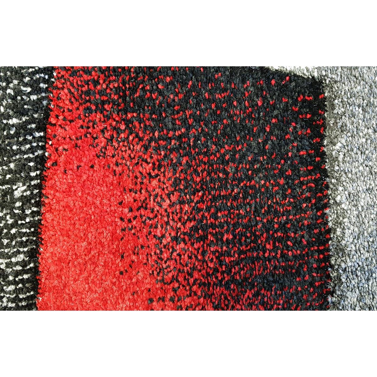 Salada matta grafiskt mönstrad grå röd detalj närbild